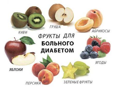 Какие фрукты можно есть при сахарном диабете 2 типа и циррозе печени
