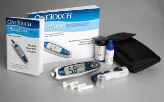Определения уровня глюкозы в крови с помощью глюкометра One Touch Ultra согласно инструкции по применению