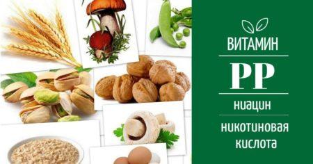 Продукты, содержащие витамин РР