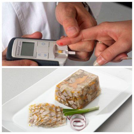 Проверка уровня сахара после того, как пациент съел студень